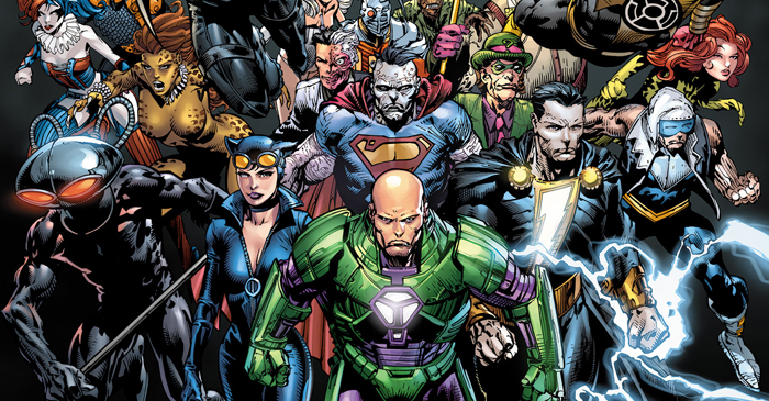Cover detail from  Forever Evil  #1. Art by David Finch. DC Comics.