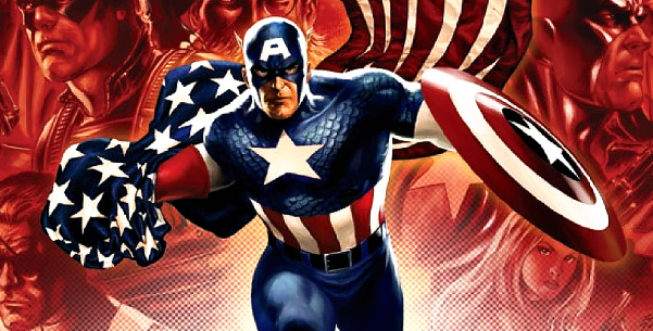 Cover detail from Captain America #19, art by Steve Epting. Marvel Comics.