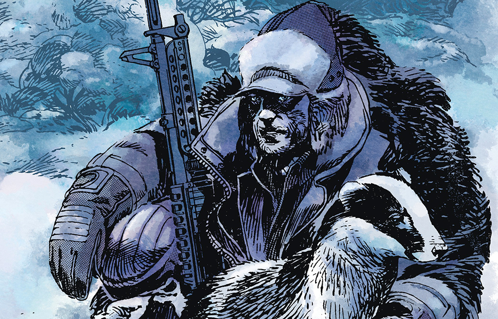Variant cover detail from  Winterworld  #1, art by Jorge Zaffino. Dixon & Zaffino/IDW Publishing.