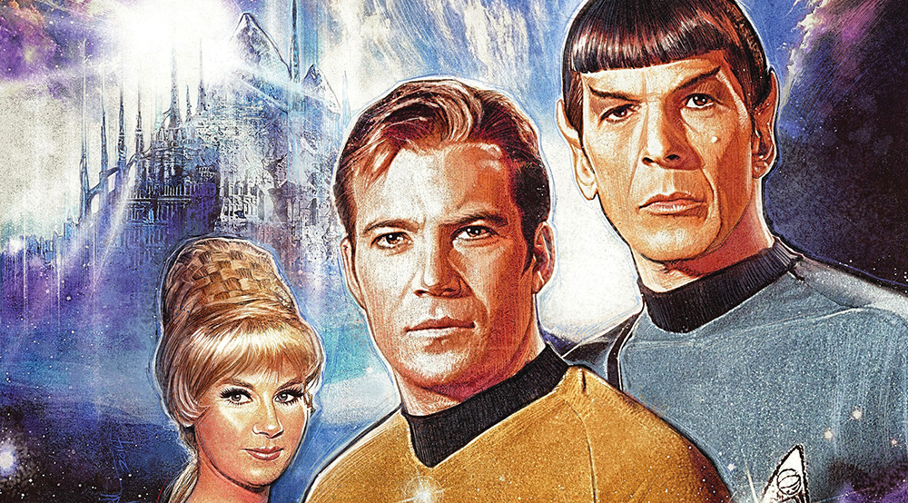 Variant cover detail for  Star Trek: Harlan Ellison's City on the Edge of Forever #1 . Art by Paul Shipper. Paramount/IDW Publishing.