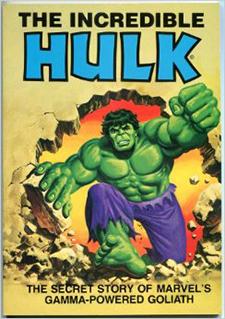 Paperback cover to  The Incredible Hulk , art by Bob Larkin.