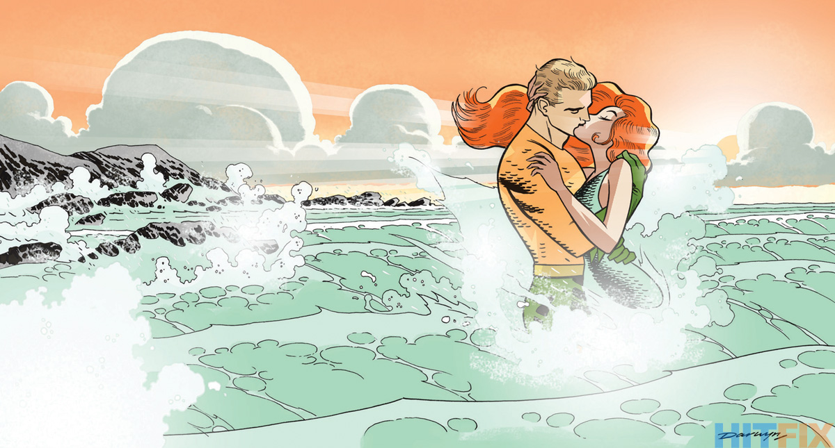 Aquaman variant cover by Darwyn Cooke. DC Comics for HitFix.com.