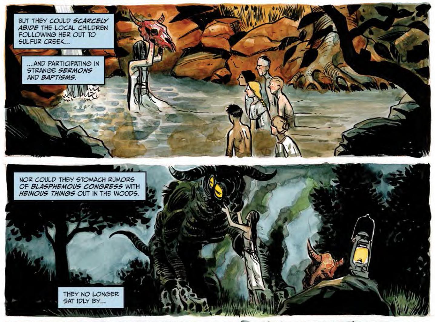 Panel detail from  Harrow County  #1. Art by Tyler Crook. Cullen Bunn/Tyler Crook for Dark Horse Comics.