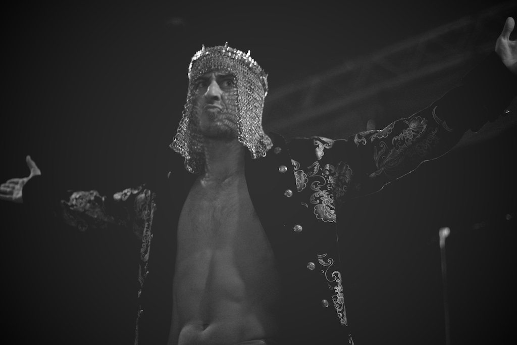 Inspire Pro Wrestling'sJ-Crown Champion Steve'O Reno enters the 4-Way at  In Their Blood 2 .Photo by Steven Gilmore.