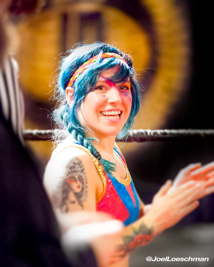 Doomies never say die! Delilah Doom impresses in the Striking Gold Battle Royal. Photo by Joel Loeschman.