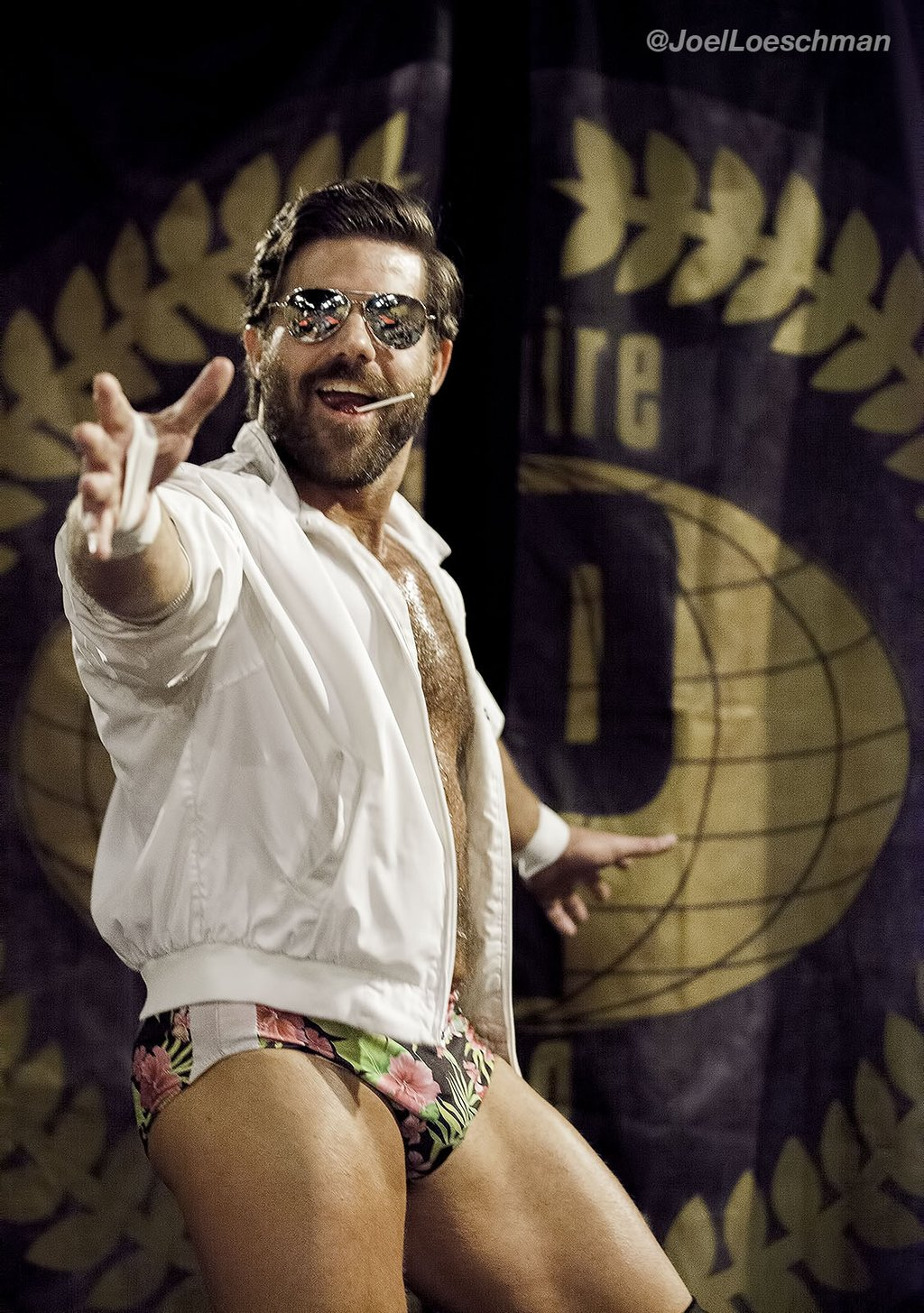 Joey Ryan (blow)pops the Inspire Pro Wrestling crowd at 'Faces of Vengeance.' Photo by Joel Loeschman.