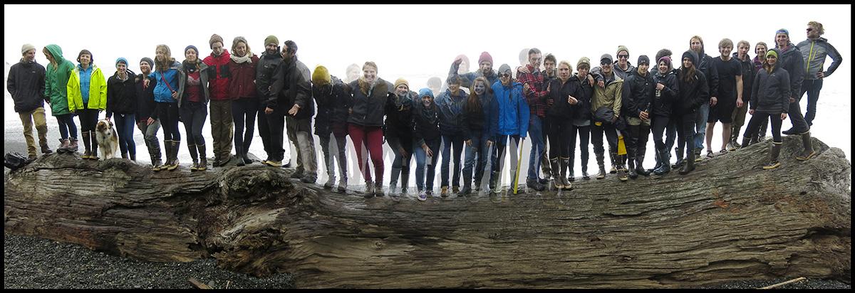 A few of us on a Rialto Beach log