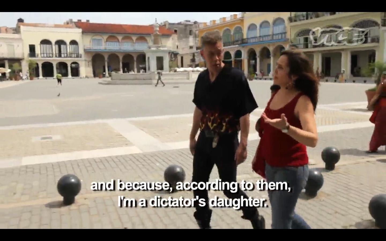 Not something you hear everyday. Mariella Castro and Serrano...