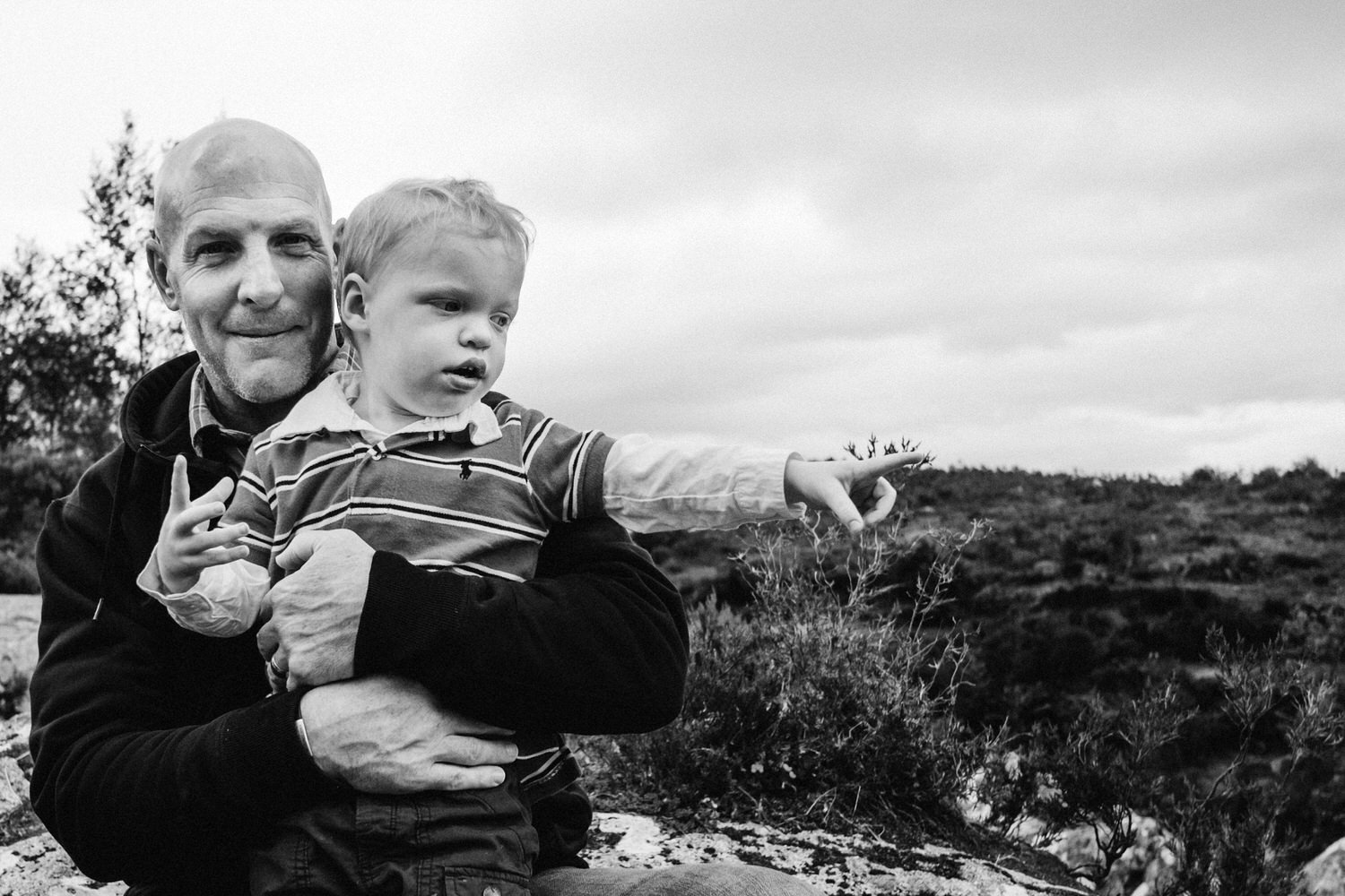 Father holds son in Glencoe
