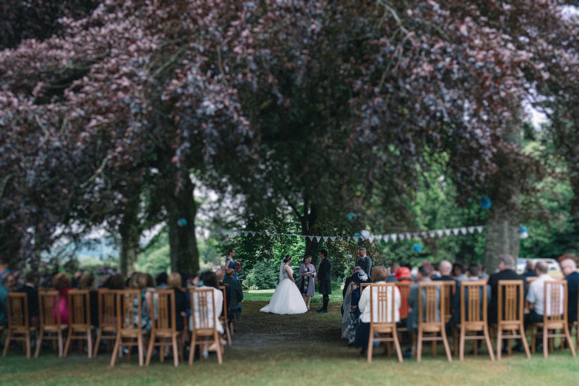 Outdoor ceremony at Altskeith House