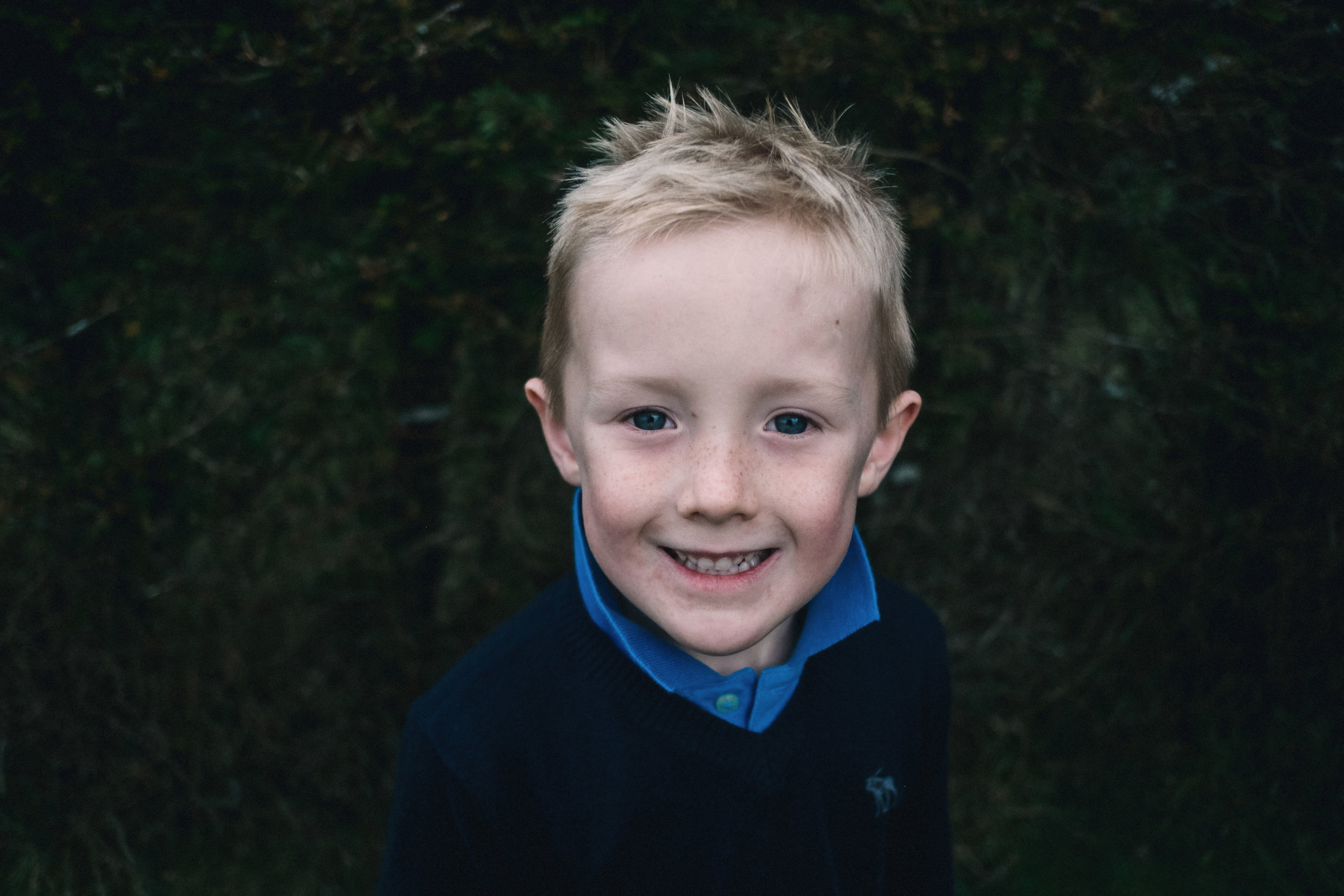 Head shot of a young boy