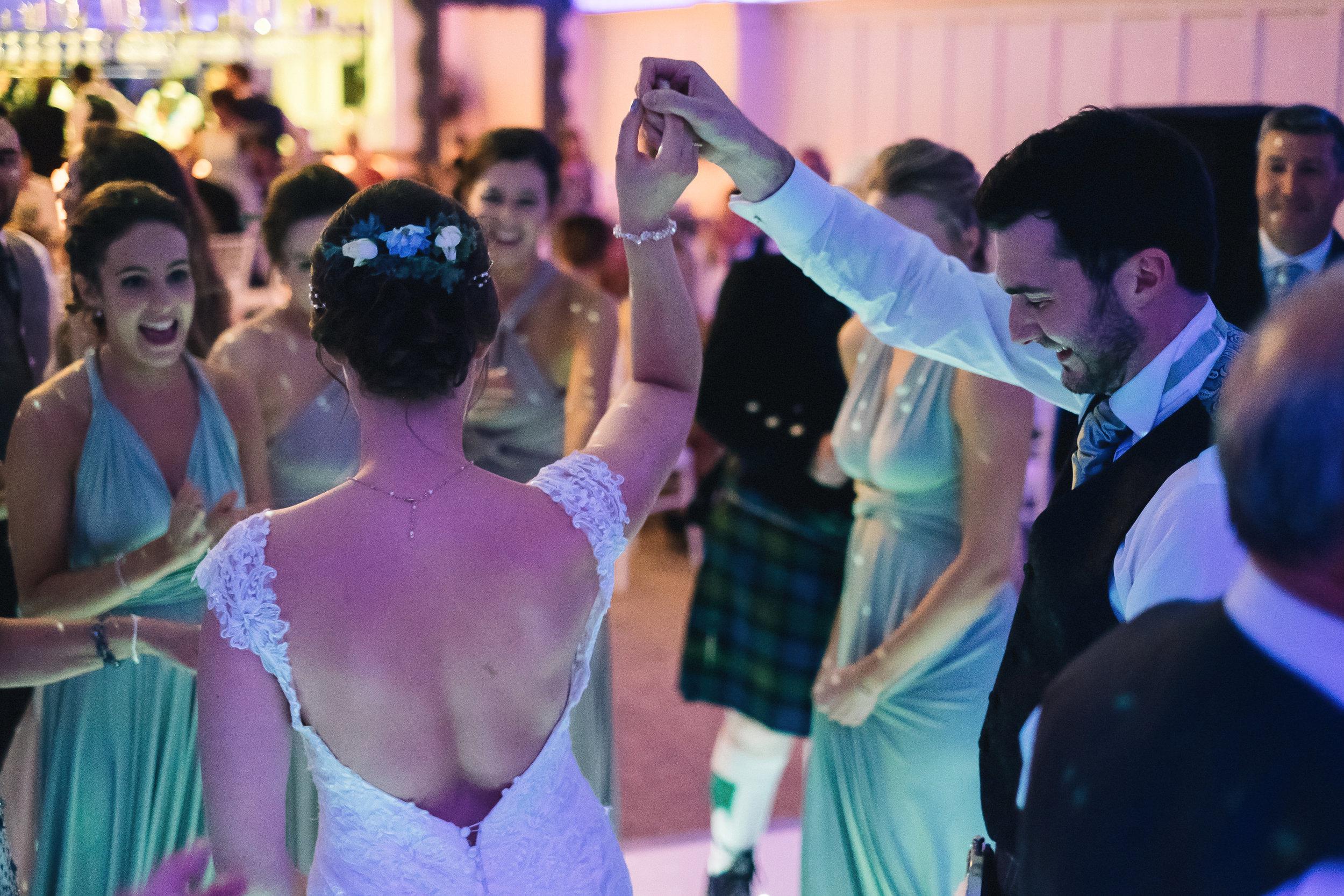 Dance floor at Fonab Castle