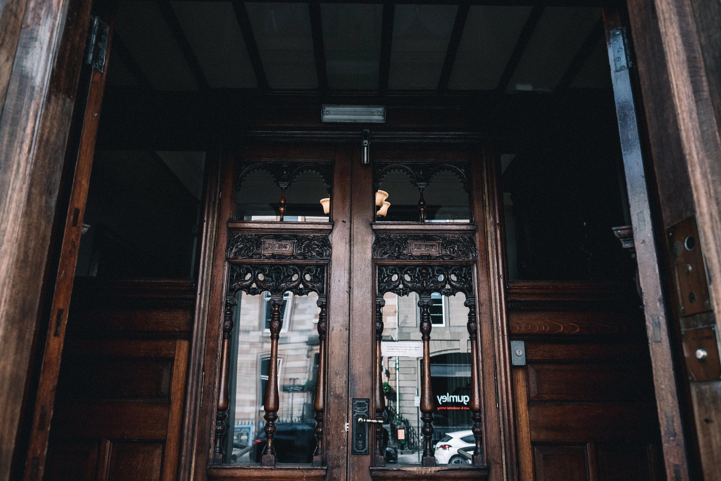 Doors to Glasgow Art Club