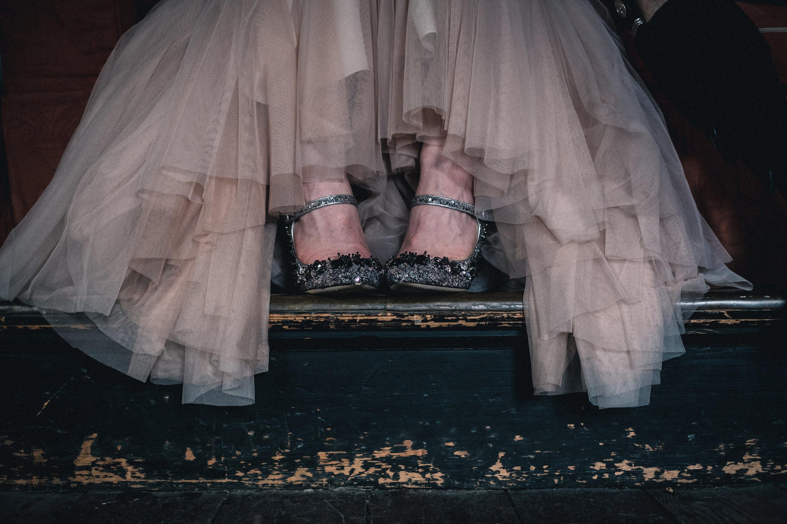 Silver Prada shoes