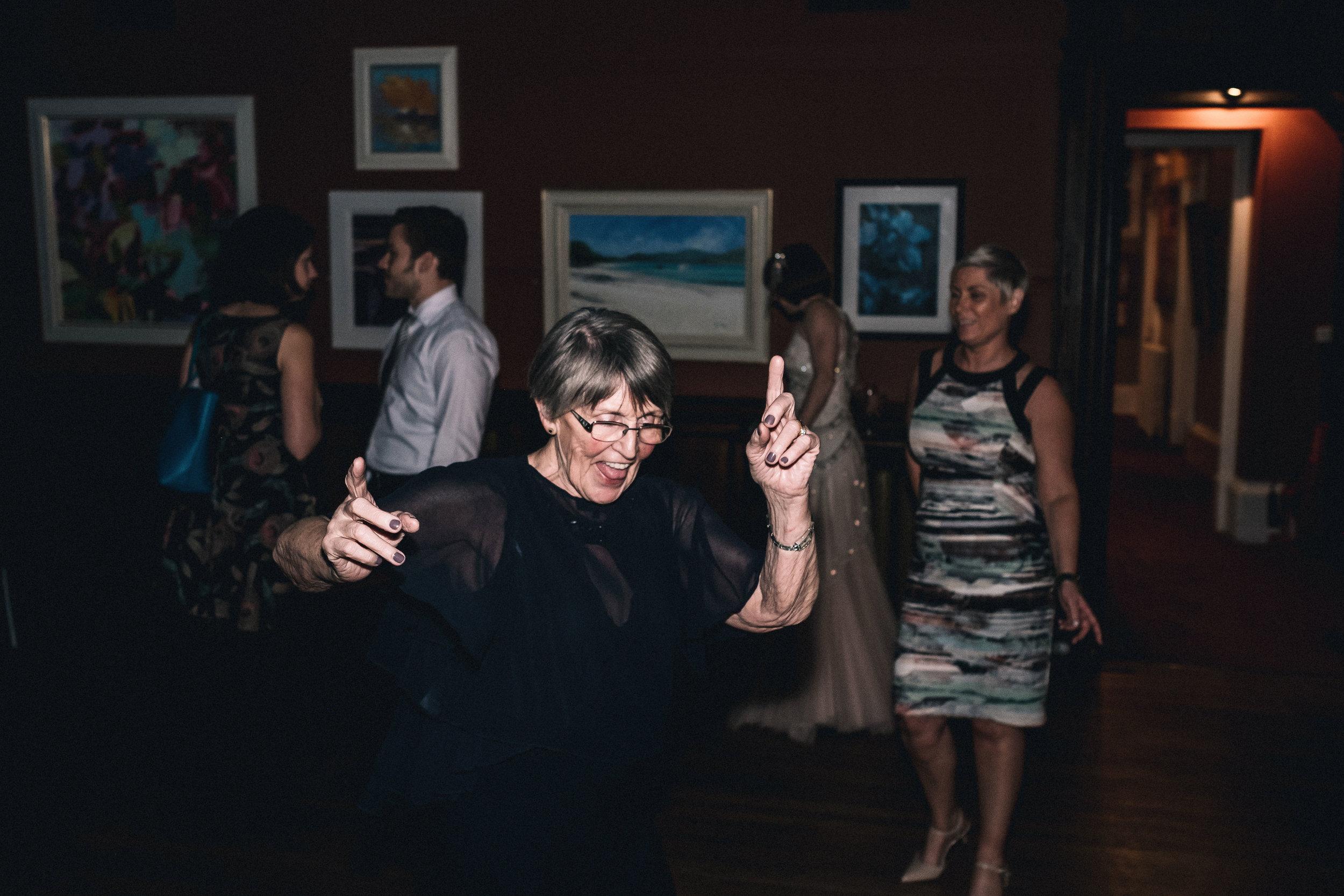 Dancing grand mother