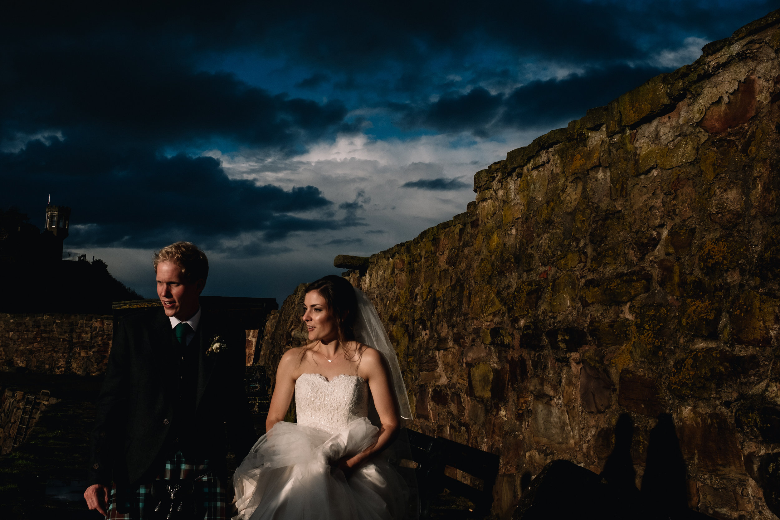 26-The-Cow-Shed-Crail-Wedding-crail-harbour-bride-and-groom-walking.JPG