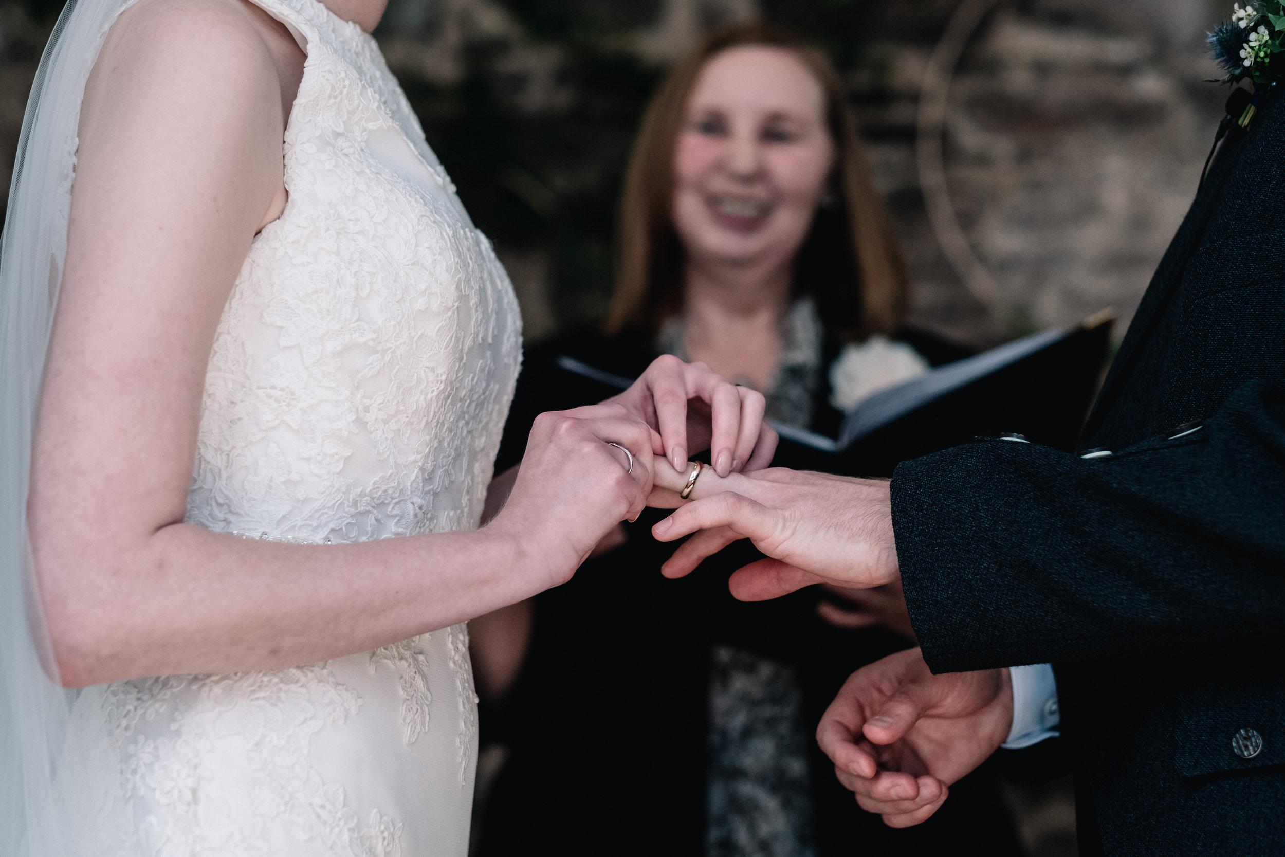 Exchange of wedding bands
