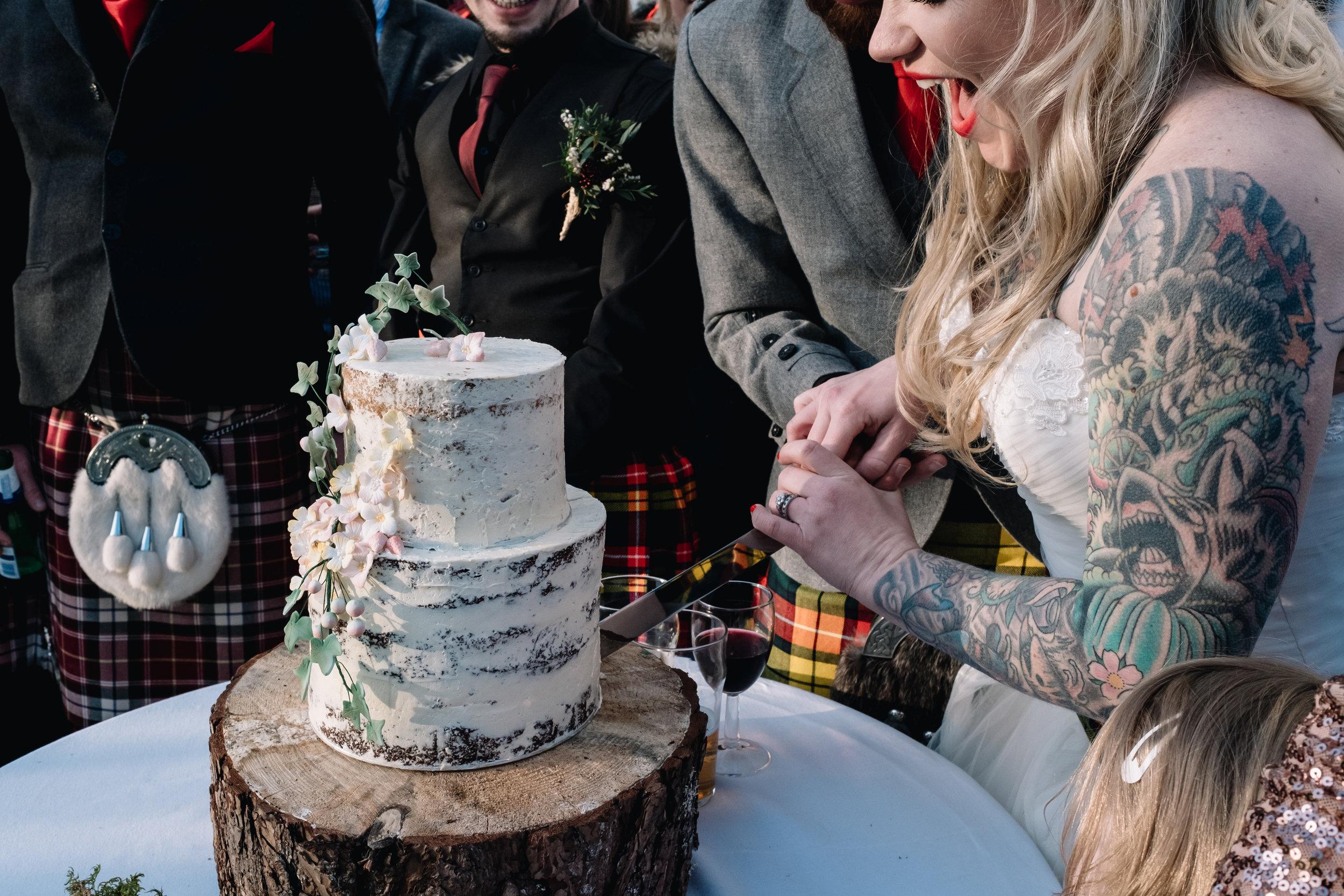 Achnagairn Estate wedding cake