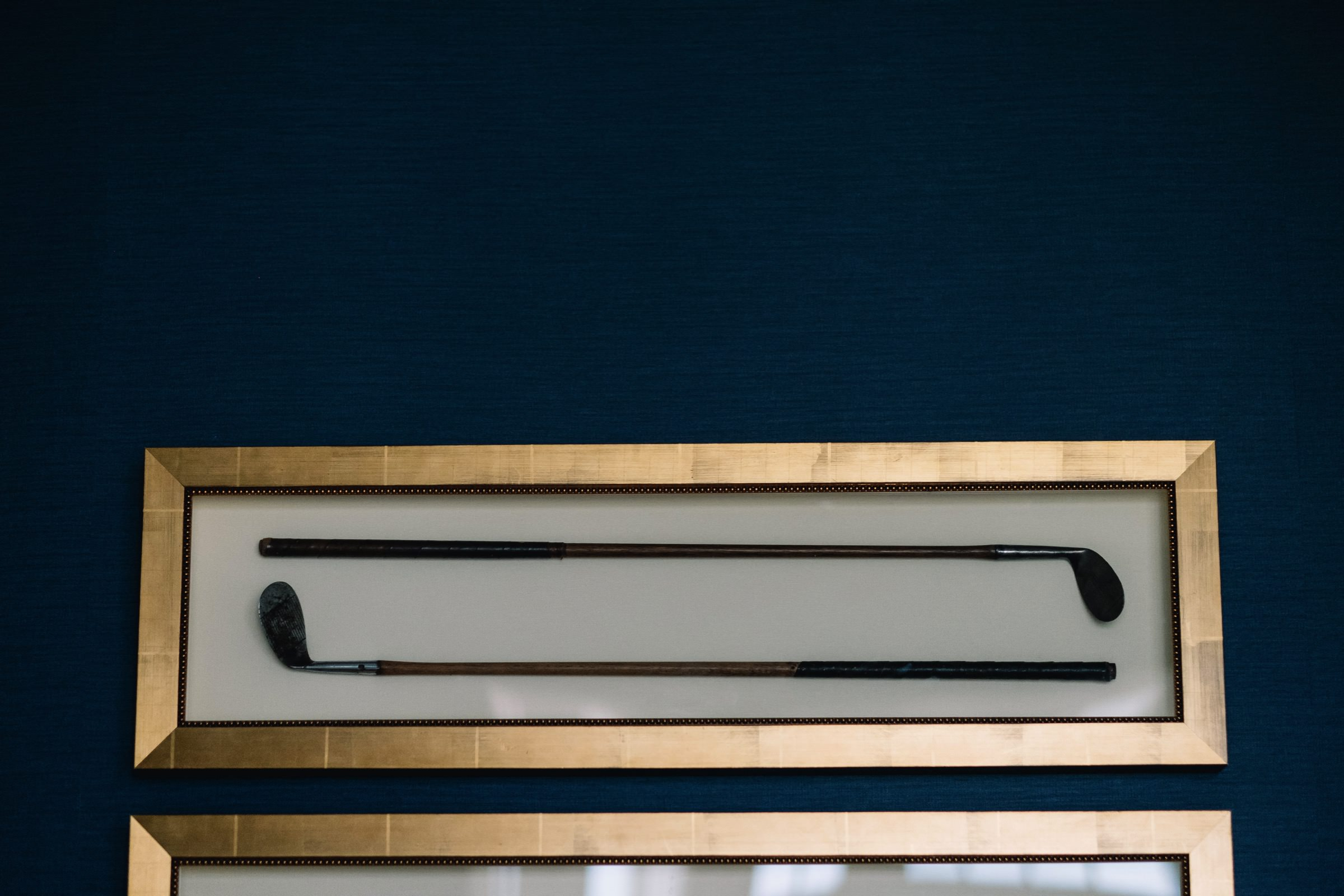 Framed golf clubs