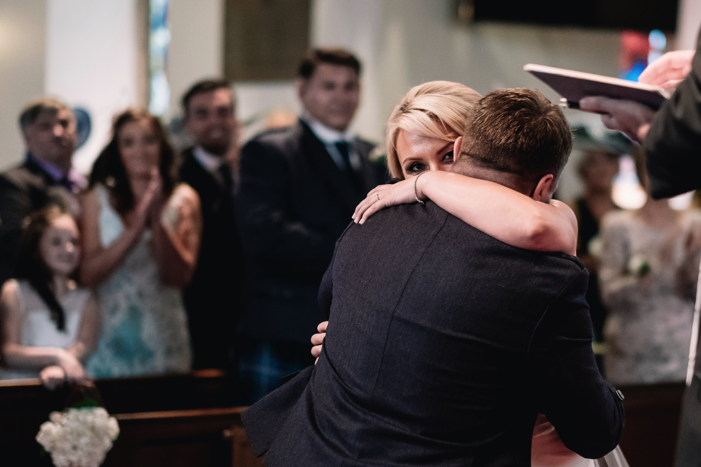 First hug as married couple