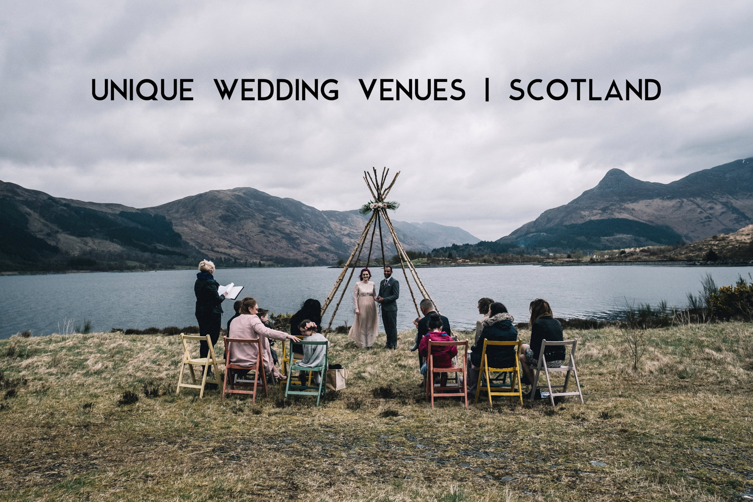 couple in Glencoe during their small wedding ceremony