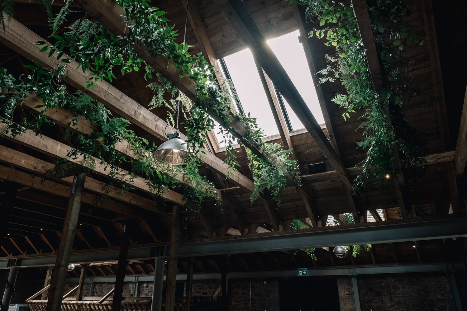 Wild flowers hang from the rafters of the Guardswell barn.