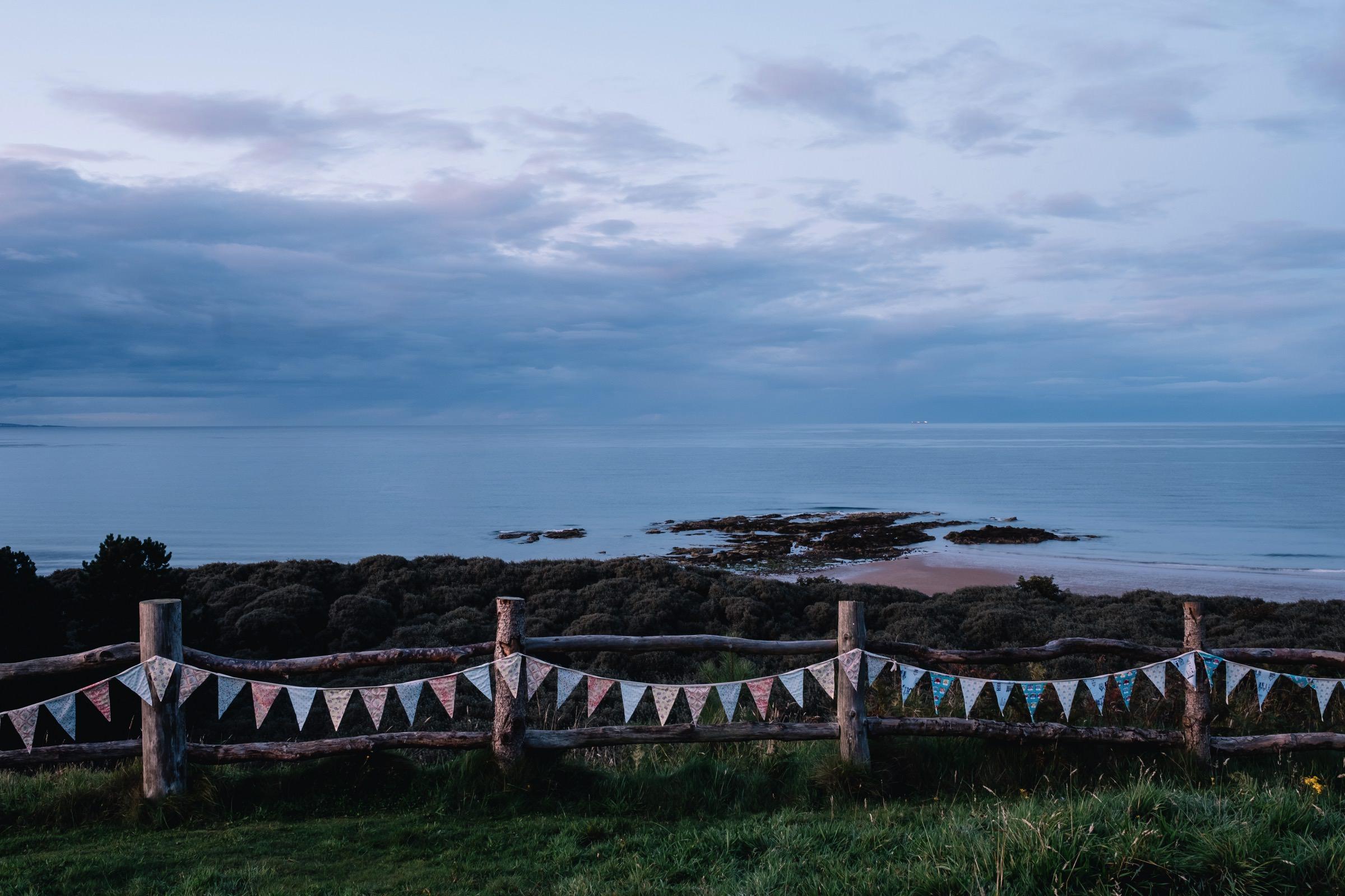 Ravensheugh sea view at dusk.