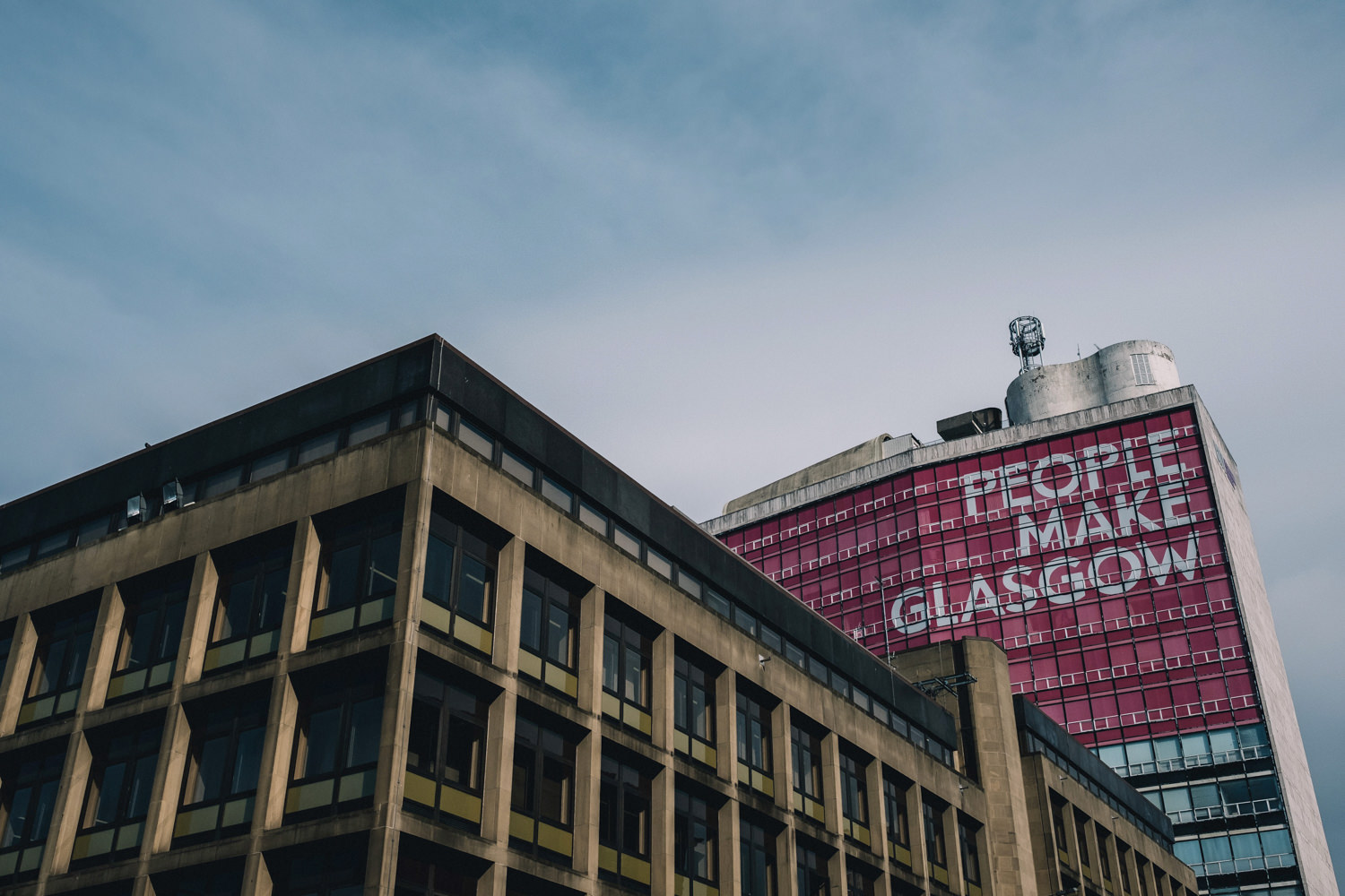 Central Glasgow on a summer's day.