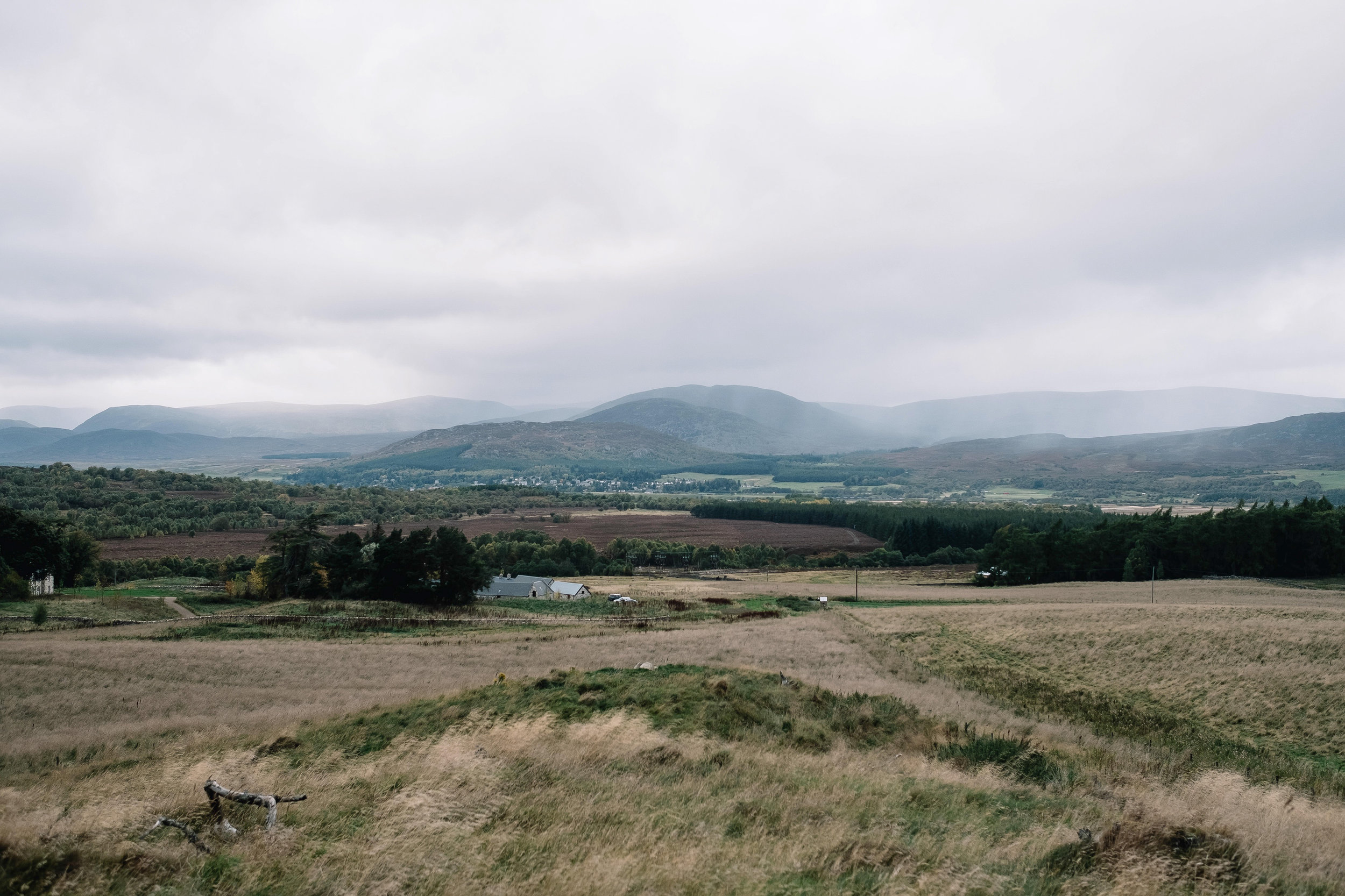 from the hill behind Killiehuntly Farmhouse