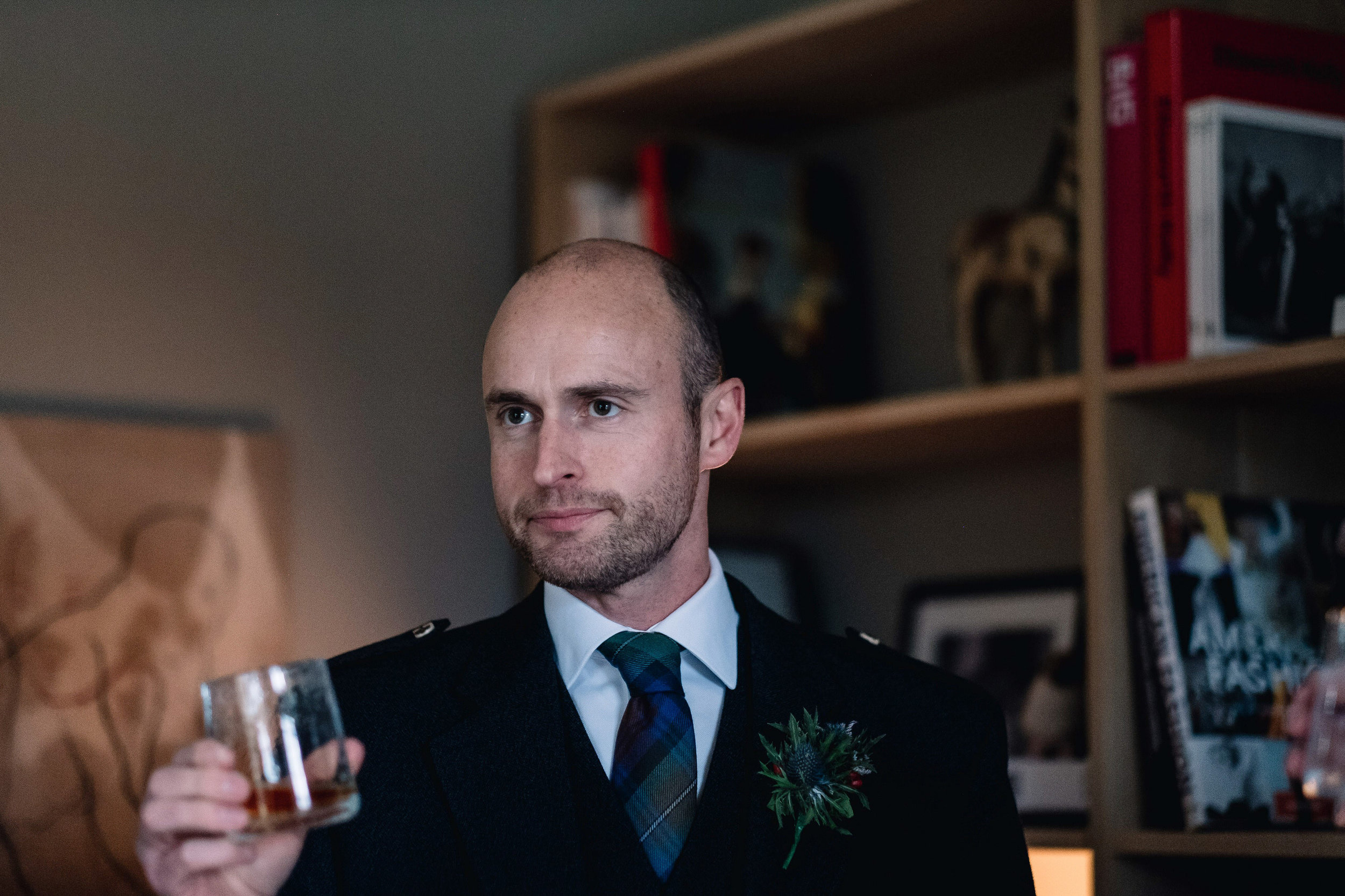 Grooms makes a toast