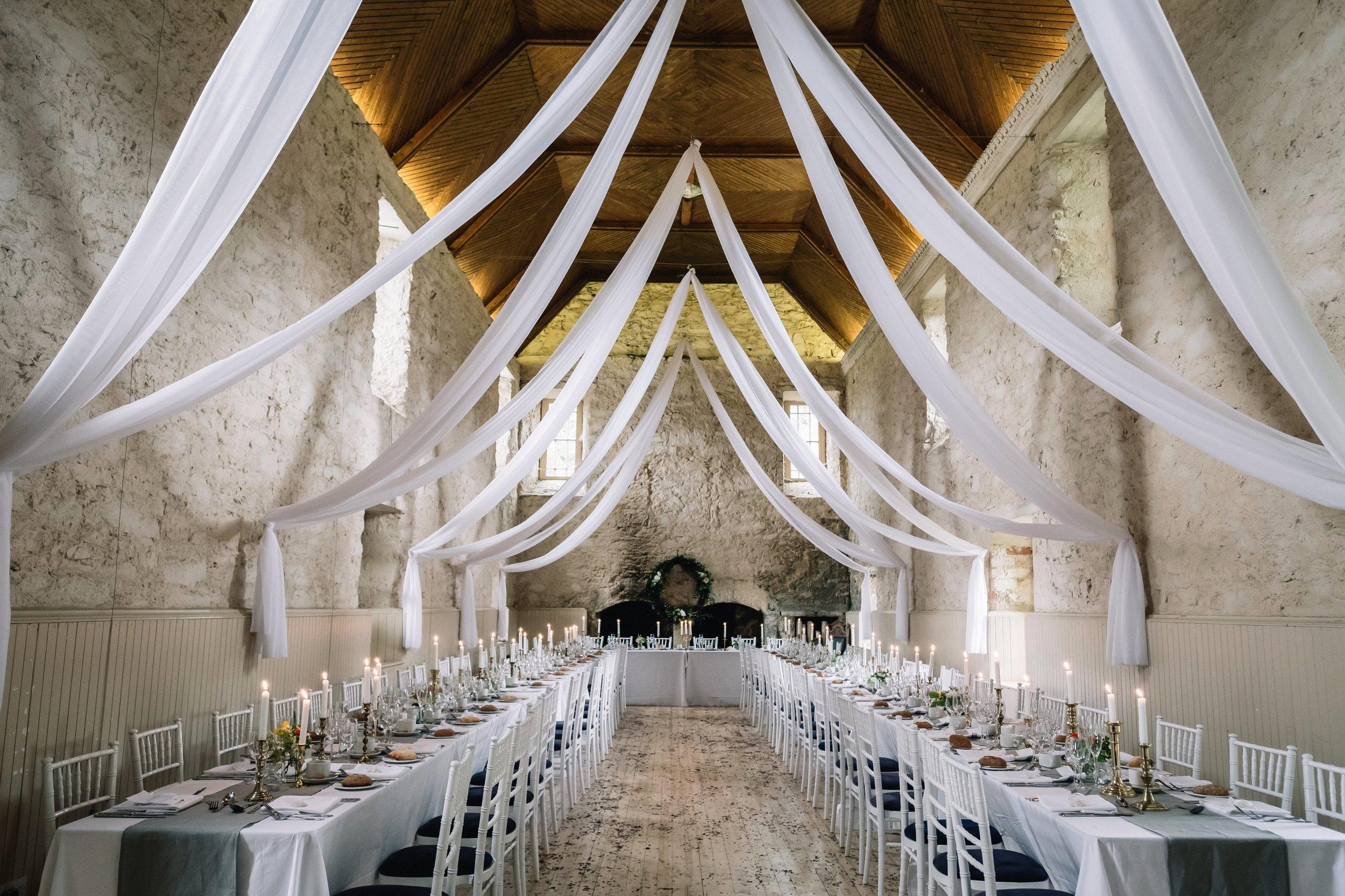Lochnell Castle wedding reception