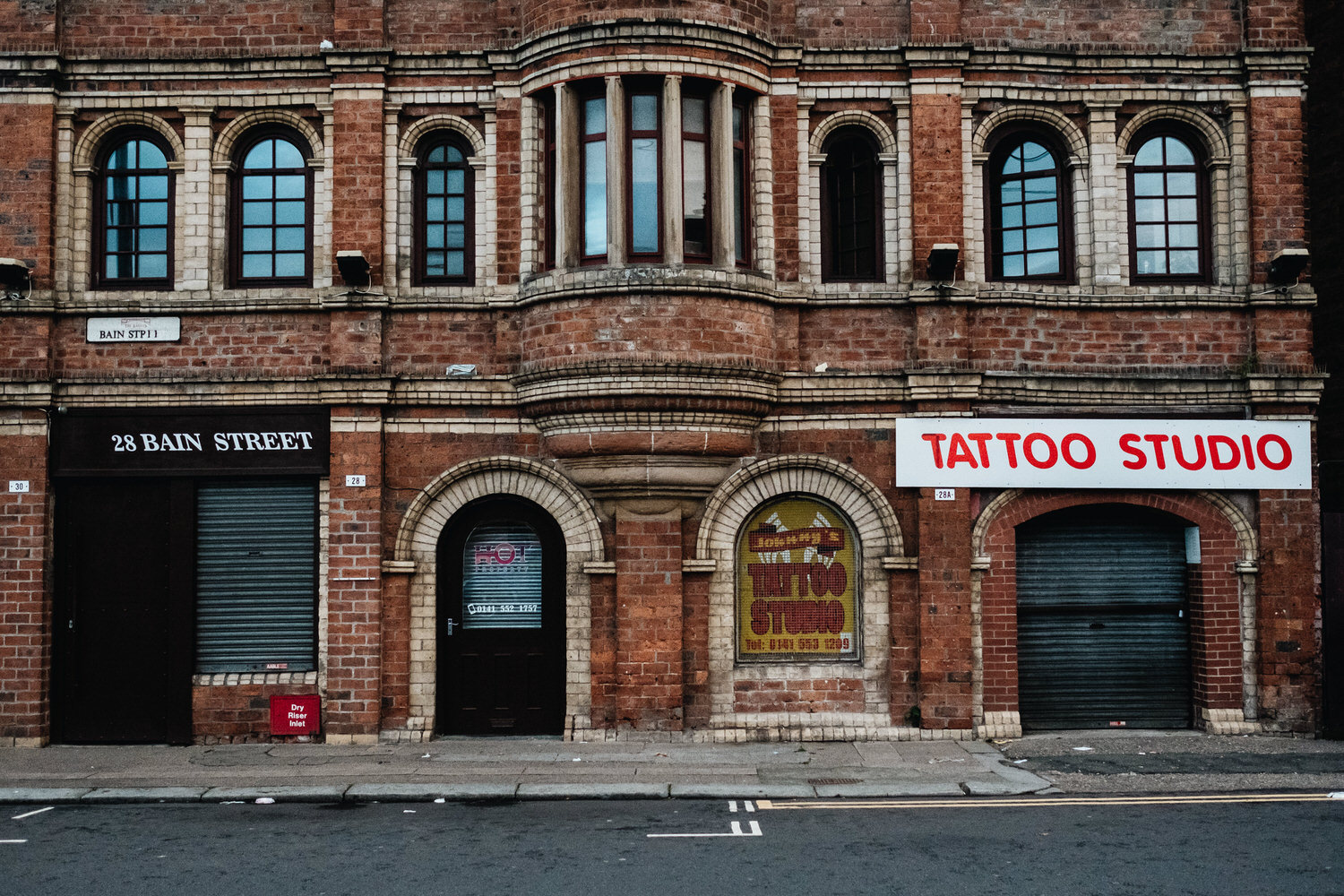 Tattoo parlour in Glasgow's East End.