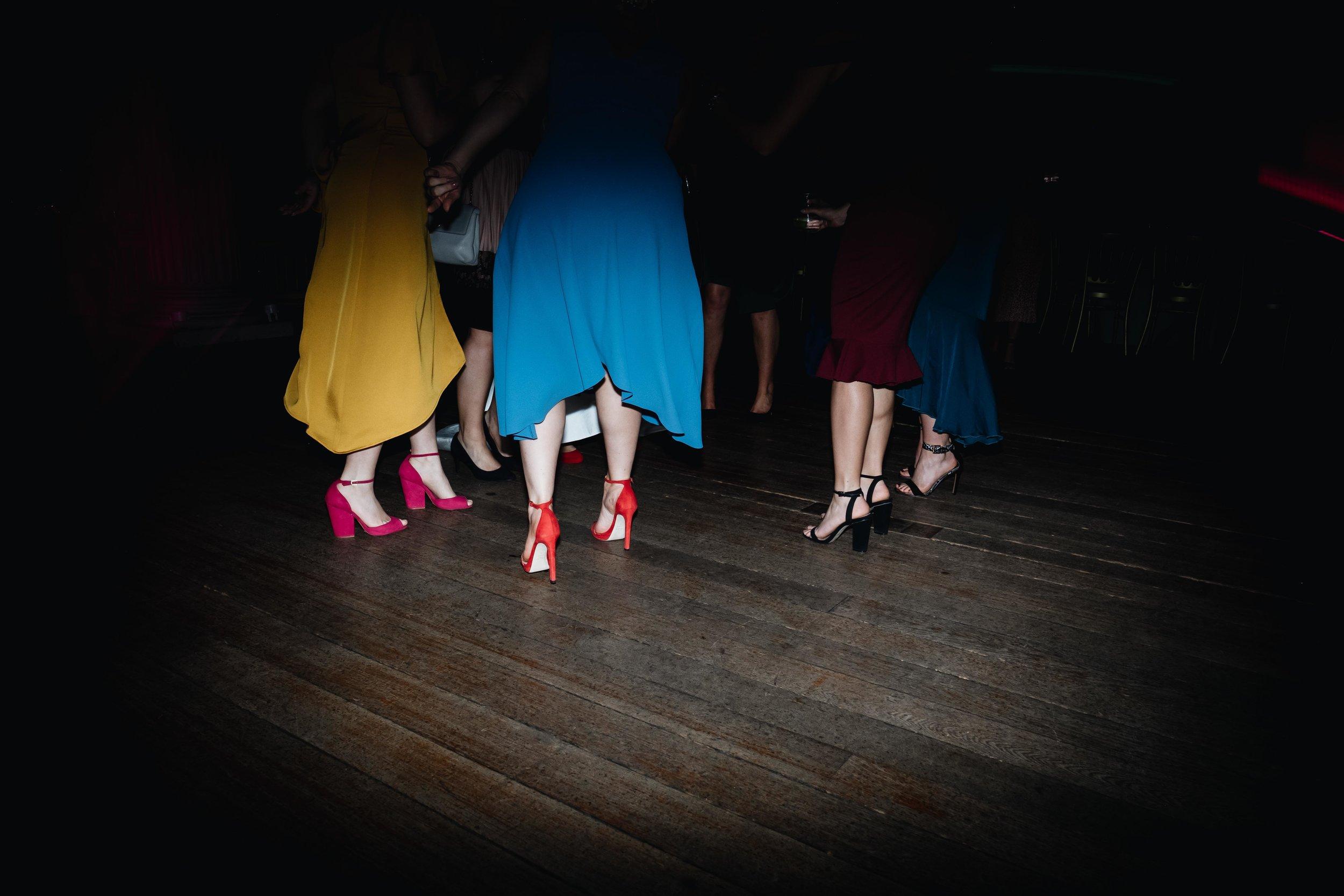 close of of girls dancing