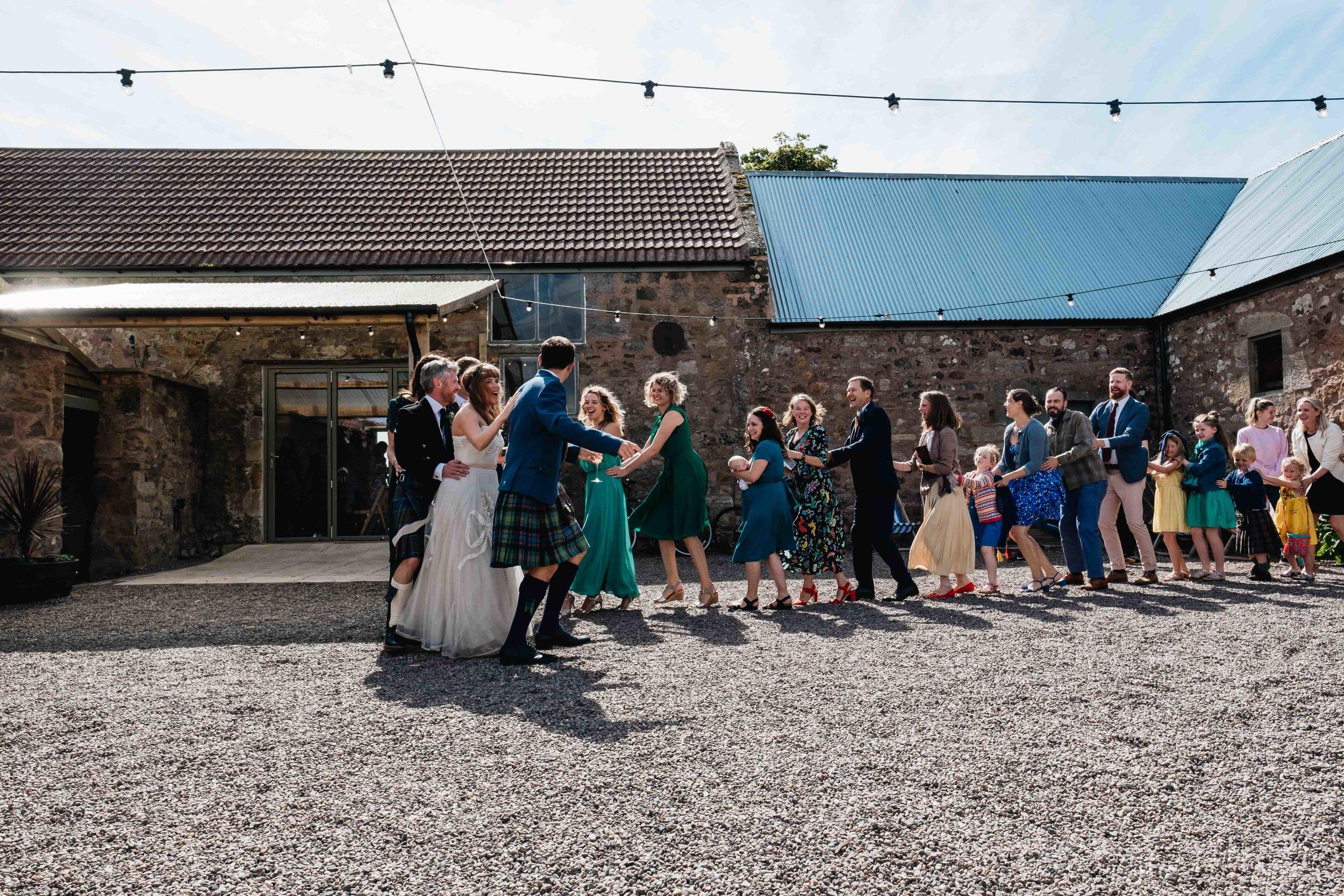 conga wedding line