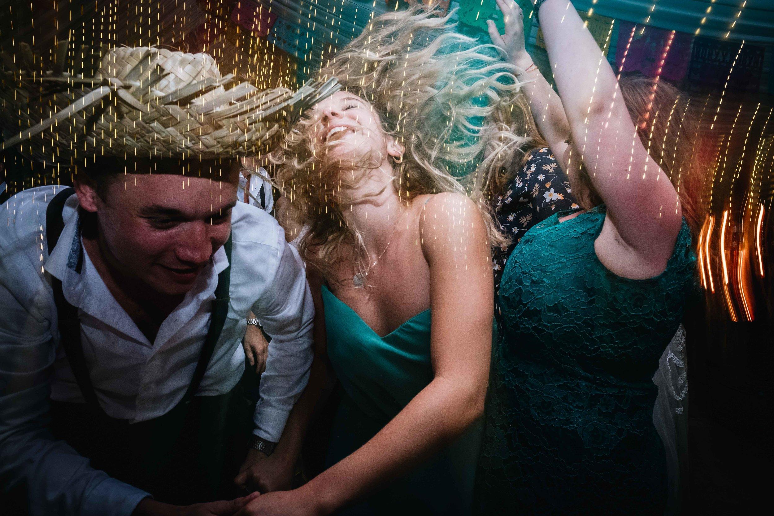vigorous dancing
