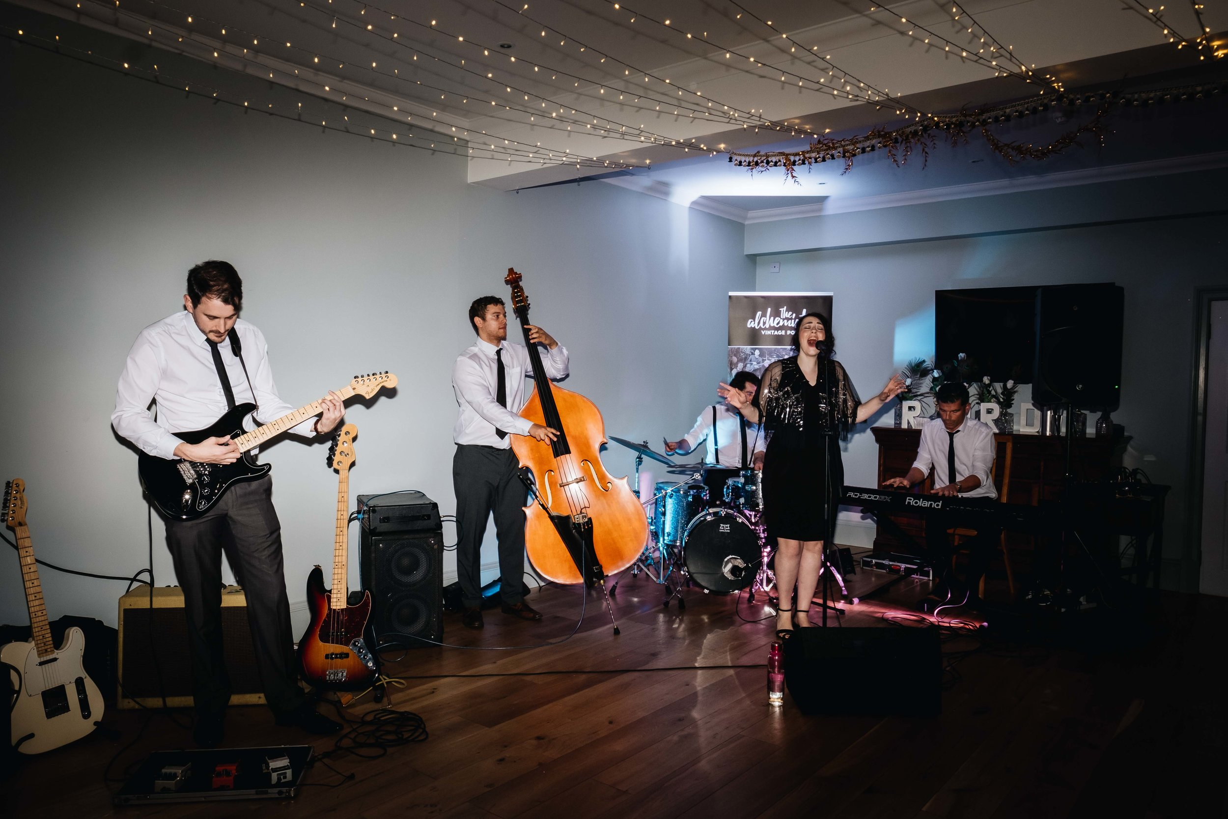 band play during party
