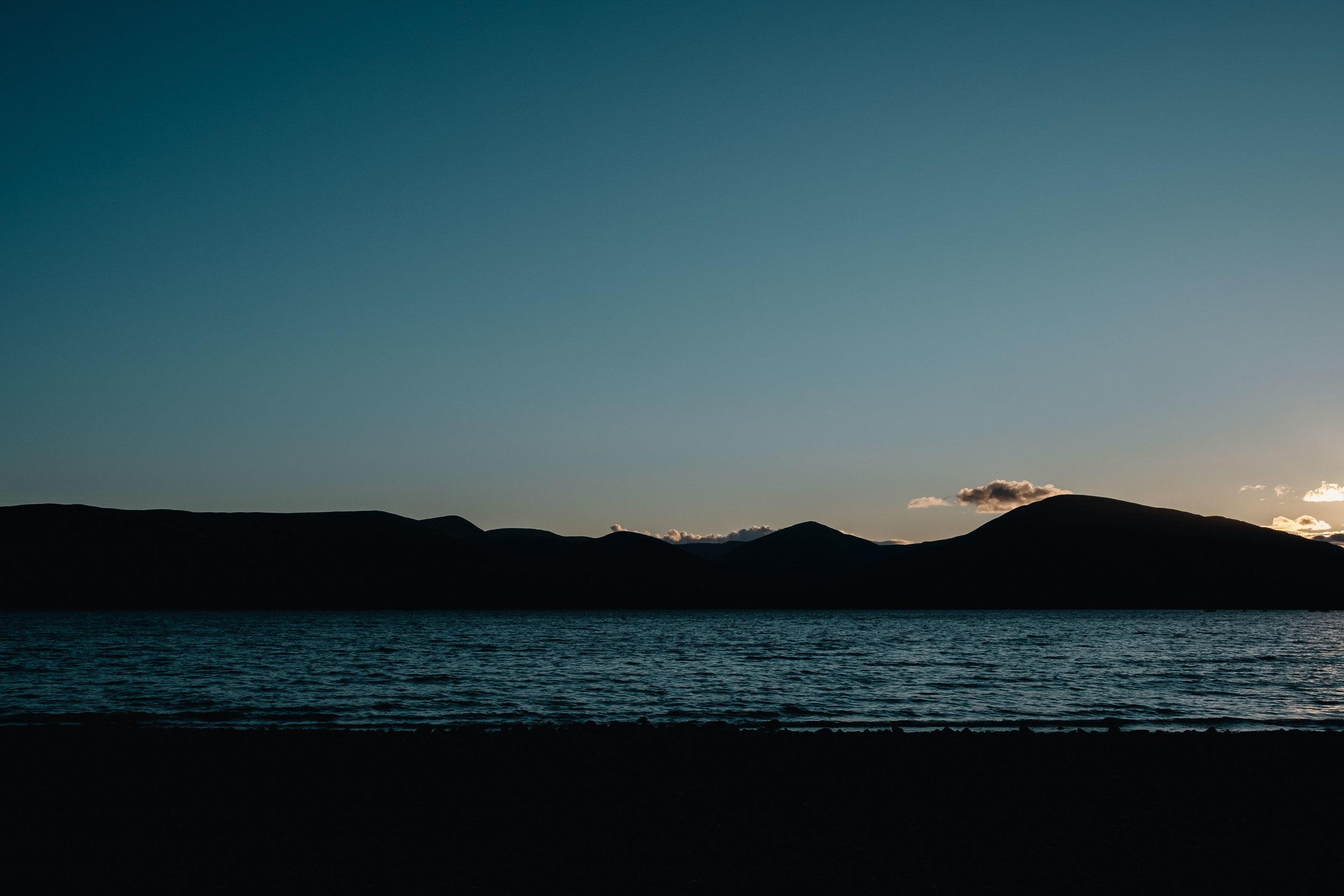a dusky sunset scene