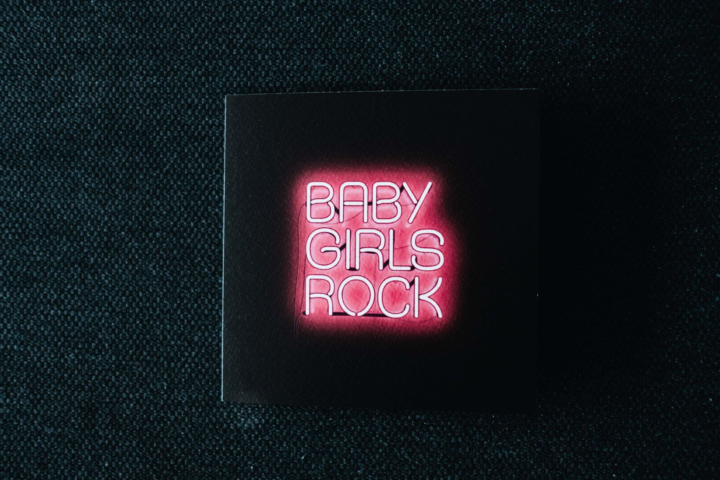 baby girl rock card