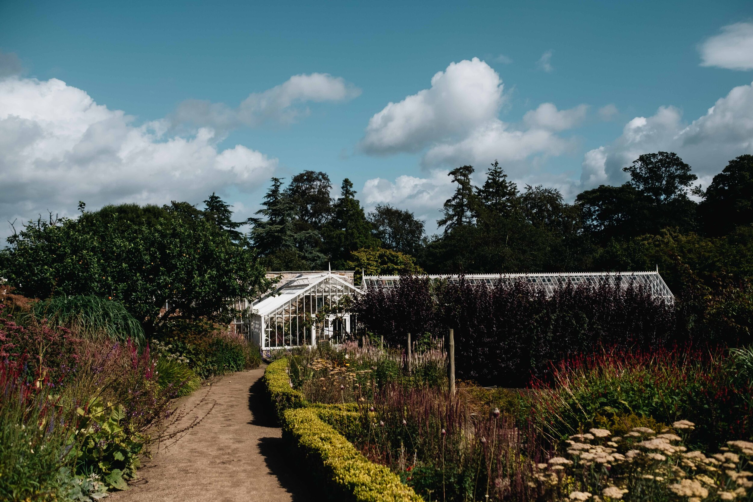 The Walled Garden of Cambo House.