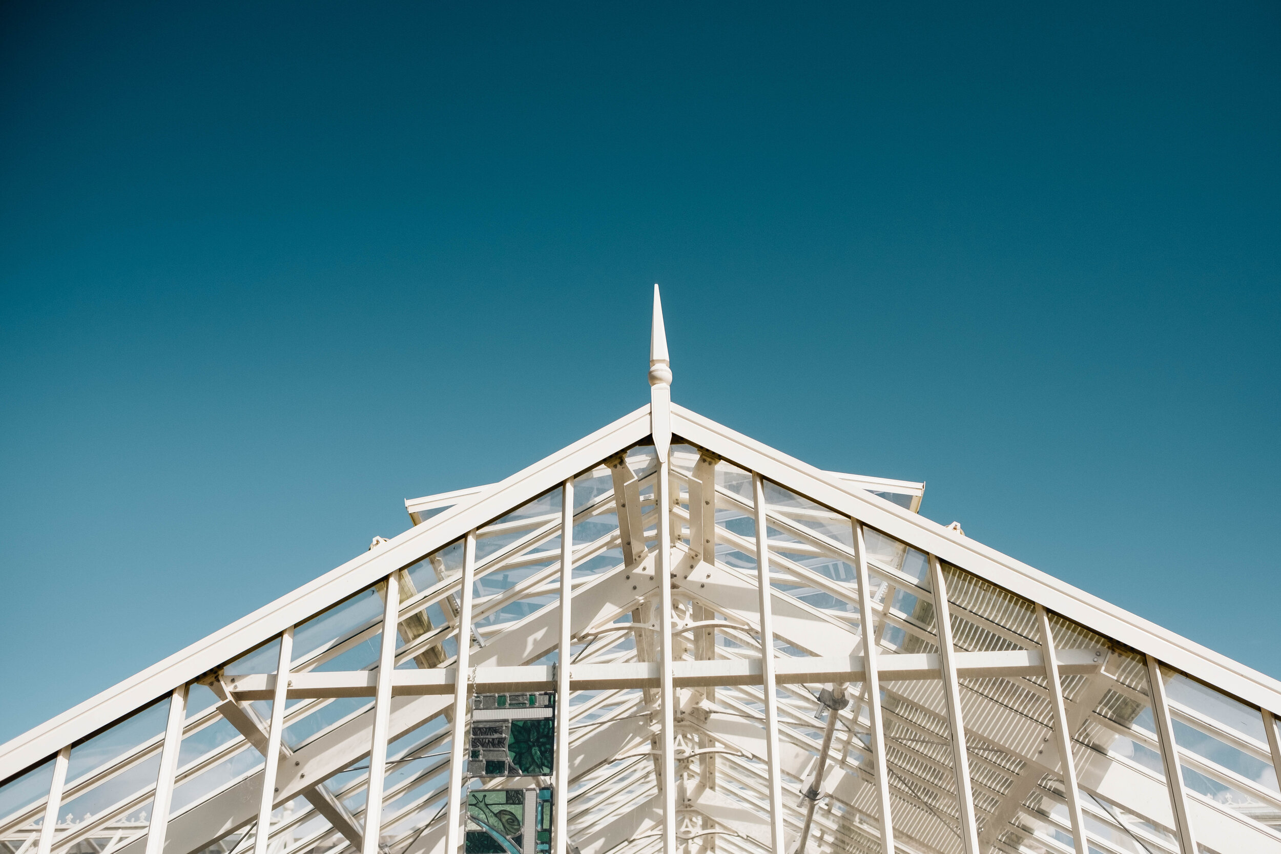 The top of the green house of the walled garden, Cambo Country House and Estate.