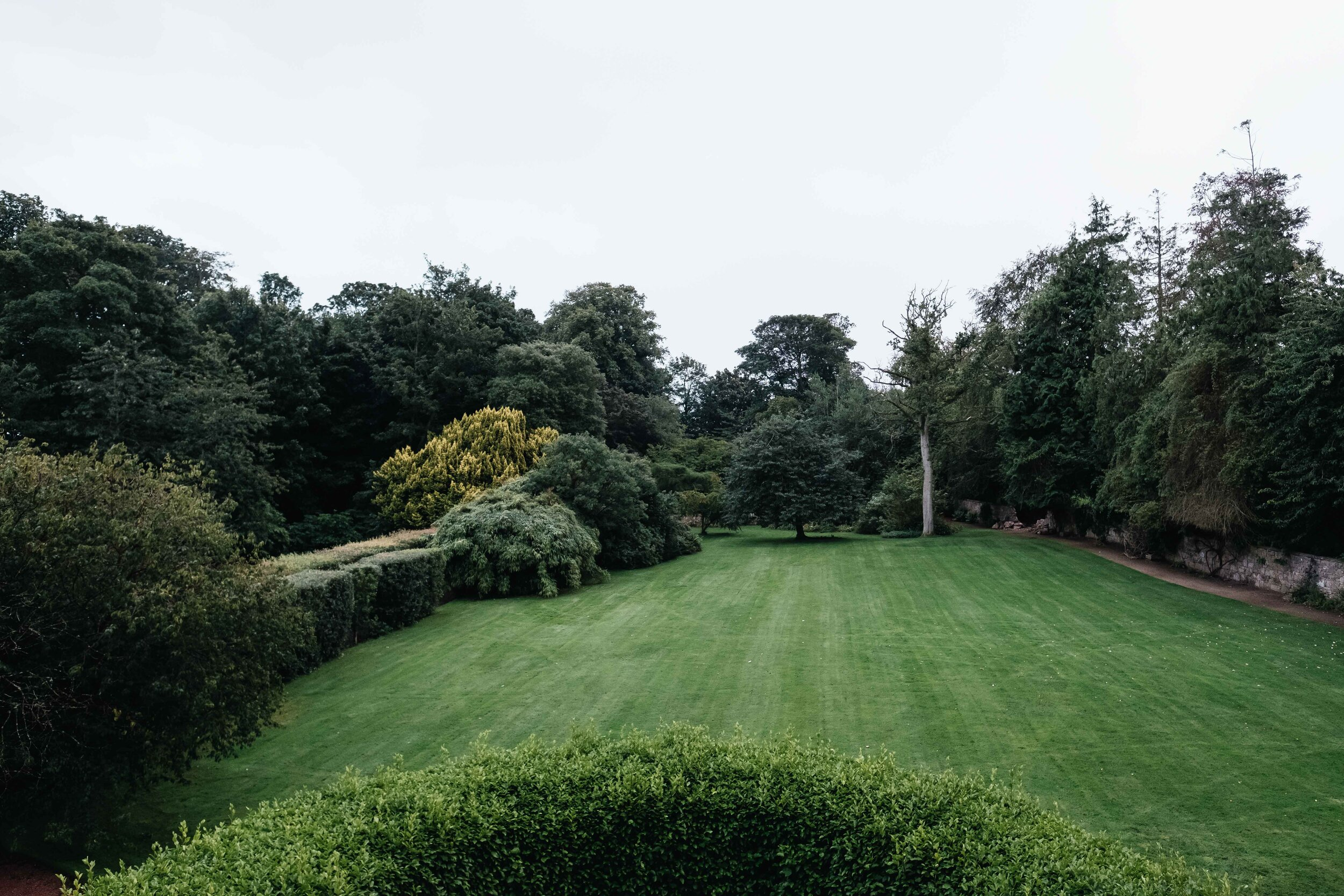 The garden out of the back of the main house of Cambo Estate.