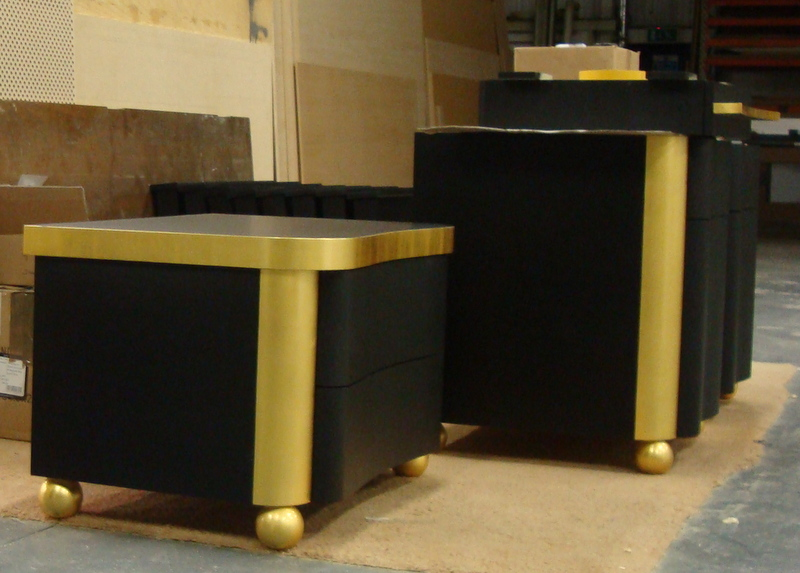 bespoke furniture with gilded feature