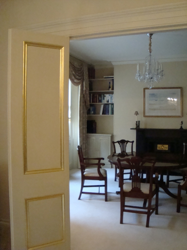 Central London Apartment. Sitting & Dining Room Re decoration