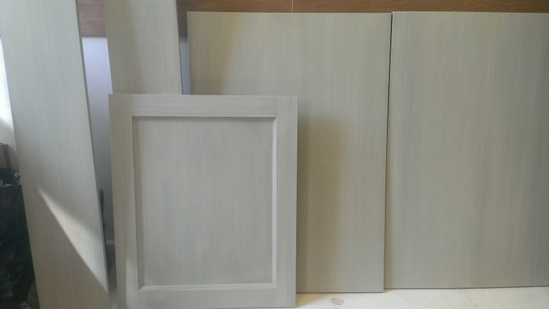 Distressed Paint Finish on Kitchen Furniture