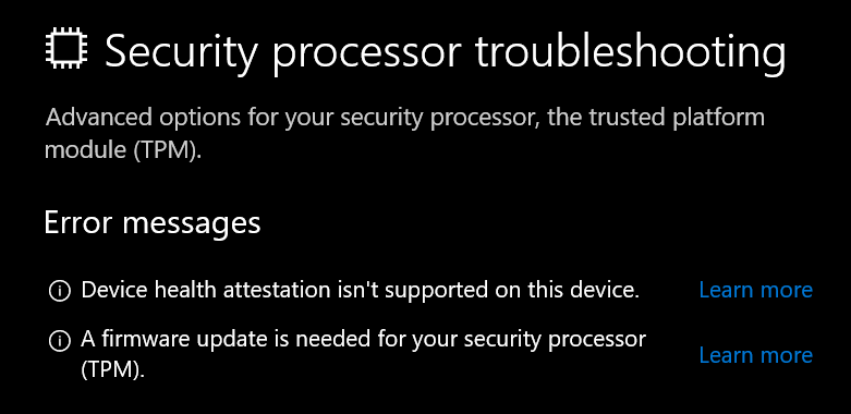 Can't enable BitLocker on a Fresh Install of Windows 10 1809