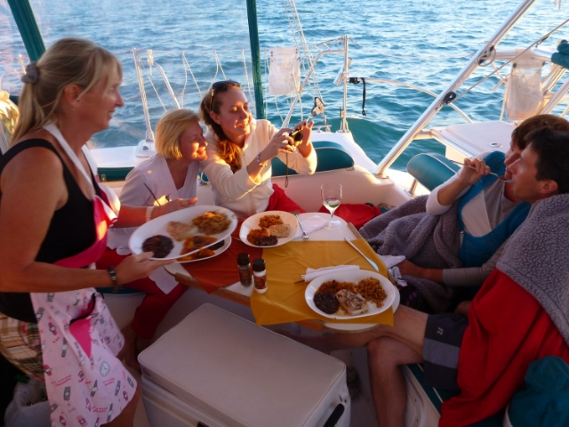 At was a bit chilly in February, but perfect for a Sunset Dinner Cruise through Key West Bight.