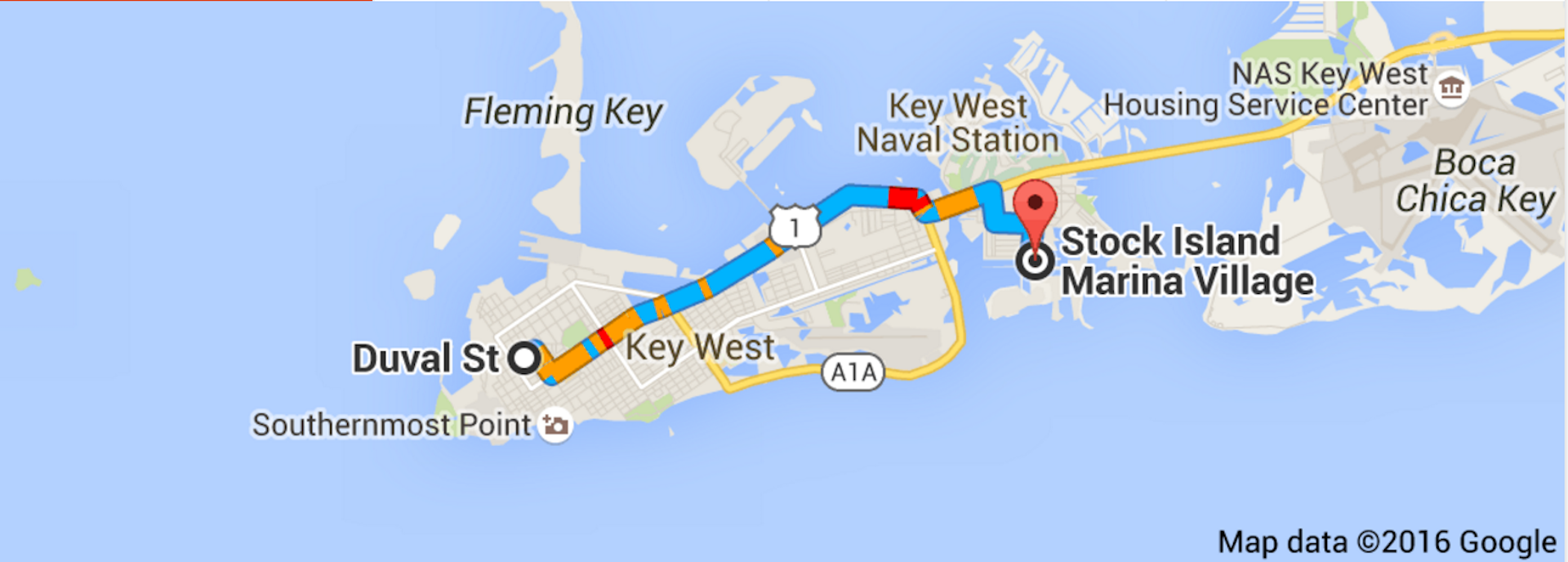 KeyWest to Stock Island Marina
