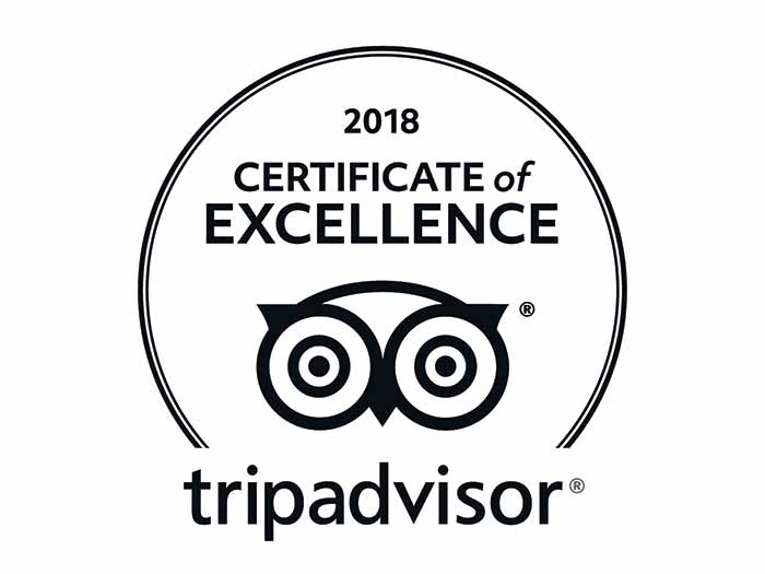 We are proud to be awarded year after year, TripAdvisor's Certificate of Excellence. We encourage you to see what past guest have to say about us.