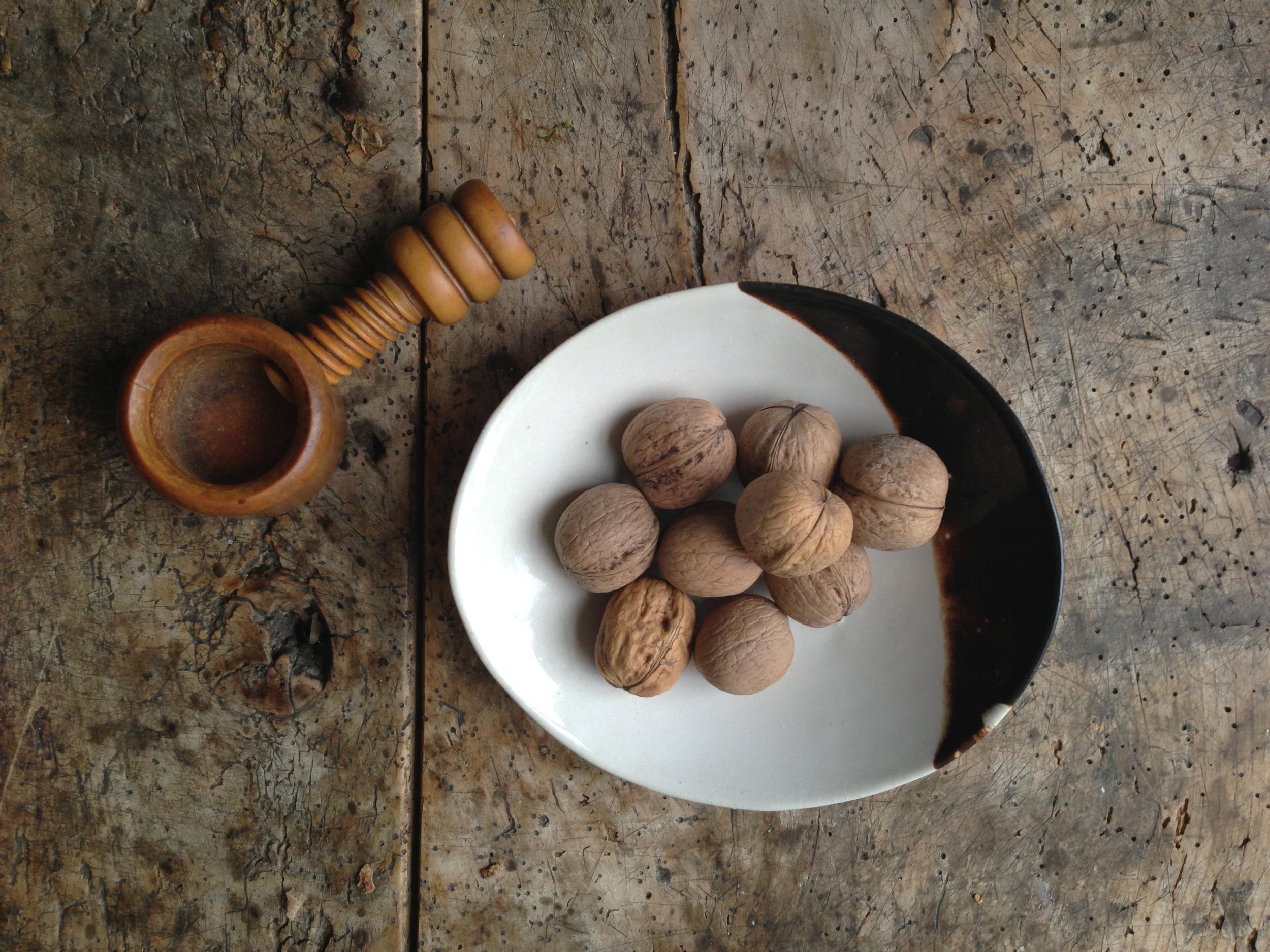 No. Bowl & Walnuts on Walnut Table