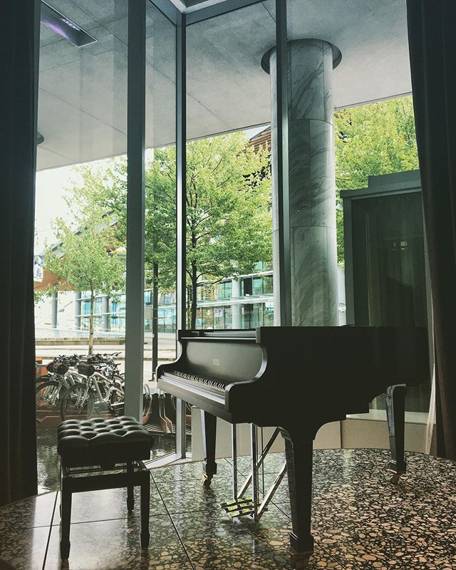 A pleasant shelter from this morning's stormy, wet weather; it was a treat to perform for the guests at the @fairmontpacific #pacificrim #fairmont #vancouver #fazioli #piano #pianistsofinstagram